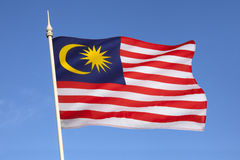 Flagga av Malaysia - South East Asia Arkivbilder