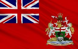 Flagga av Manitoba, Kanada royaltyfria bilder