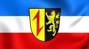 Flagga av Mannheim, Tyskland stock illustrationer