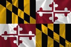 Flagga av Maryland bakgrund, gammal linje tillstånd stock illustrationer