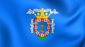 Flagga av Melilla, Spanien royaltyfri illustrationer