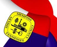 Flagga av Memphis, USA royaltyfri illustrationer