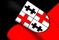 Flagga av Merzig, Tyskland vektor illustrationer