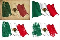 Flagga av Mexico Royaltyfri Foto