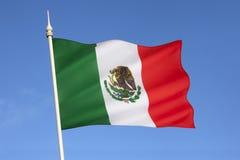 Flagga av Mexico Royaltyfri Bild