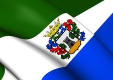 Flagga av Mijas, Spanien vektor illustrationer