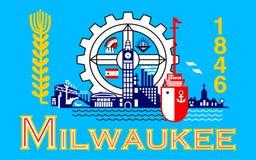 Flagga av Milwaukee i Wisconsin, USA arkivbild