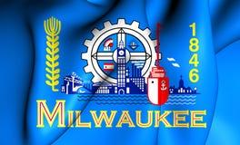 Flagga av Milwaukeen, USA royaltyfri illustrationer