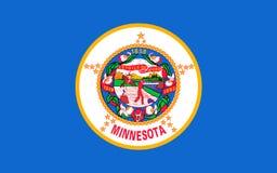 Flagga av Minnesota, USA arkivbild