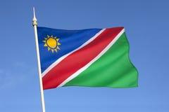 Flagga av Namibia - Afrika Arkivfoto