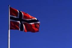 Flagga av Narway - norsk flagga Arkivfoton