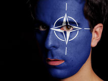 Flagga av NATO Royaltyfri Foto