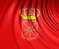 Flagga av Navarra, Spanien vektor illustrationer