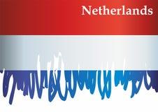 Flagga av Nederl?nderna Kungarike av Nederl?nderna Mall f?r utm?rkelsedesign, ett officiellt dokument med flaggan av Nederl?ndern stock illustrationer