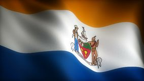 Flagga av New York Albany stock illustrationer