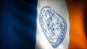 Flagga av New York City vektor illustrationer