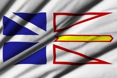 Flagga av Newfoundland och labrador Arkivbild