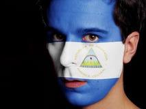 Flagga av Nicaragua arkivfoton