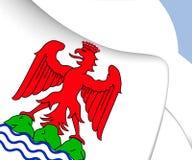 Flagga av Nice, Frankrike royaltyfri illustrationer