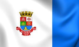 Flagga av Niteroi, Brasilien royaltyfri illustrationer