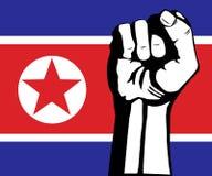 Flagga av Nordkorea Royaltyfria Bilder