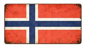 Flagga av Norge Royaltyfri Bild