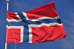 Flagga av Norge Royaltyfria Bilder