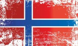 Flagga av Norge, kungarike av Norge Rynkiga smutsiga fläckar stock illustrationer