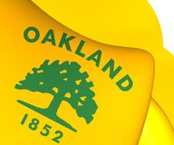 Flagga av Oakland, USA stock illustrationer