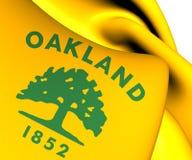 Flagga av Oakland, USA vektor illustrationer