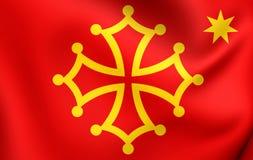 Flagga av Occitaniaen stock illustrationer