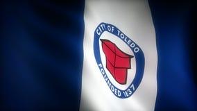 Flagga av Ohio Toledo vektor illustrationer