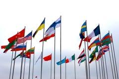 Flagga av olika länder royaltyfria bilder