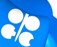 Flagga av OPEC royaltyfri illustrationer