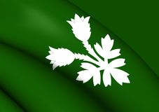 Flagga av Oppland, Norge royaltyfri illustrationer