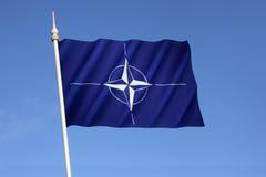 Flagga av organisationen för fördrag för norrAtlanten - NATO Fotografering för Bildbyråer