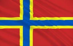Flagga av Orkney av Skottland, Förenade kungariket av Storbritannien Fotografering för Bildbyråer