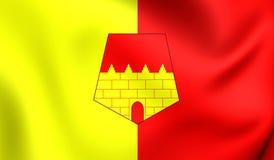 Flagga av Oujdaen, Marocko royaltyfri illustrationer