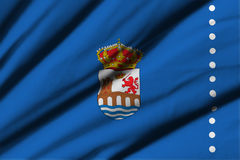 Flagga av Ourense Arkivfoto
