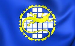 Flagga av Ozyorsk, Ryssland royaltyfri illustrationer