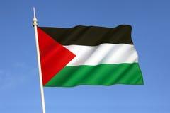 Flagga av palestiniern Royaltyfria Foton