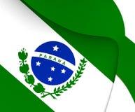 Flagga av Parana, Brasilien royaltyfri illustrationer