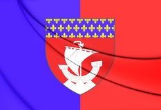 Flagga av Paris, Frankrike royaltyfri illustrationer
