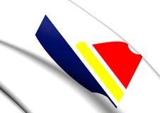 Flagga av Peoria, USA stock illustrationer