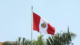 Flagga av Peru arkivfilmer