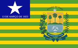 Flagga av Piaui, Brasilien royaltyfri fotografi