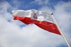 Flagga av Polen Arkivfoto