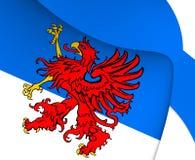 Flagga av Pomerania vektor illustrationer