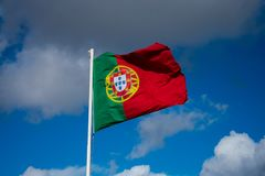 Flagga av Portugal Bandeira de Portugal Arkivbild
