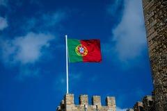 Flagga av Portugal Bandeira de Portugal Arkivfoto